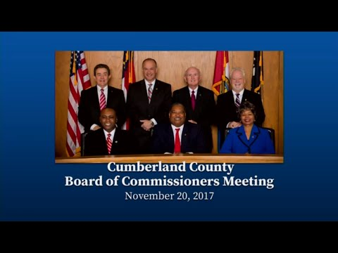 Cumberland County Board of Commissioners - Nov. 20, 2017