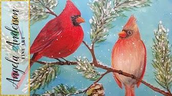 Winter Artwork (Acrylic Painting & Mixed Media) by Angela ...