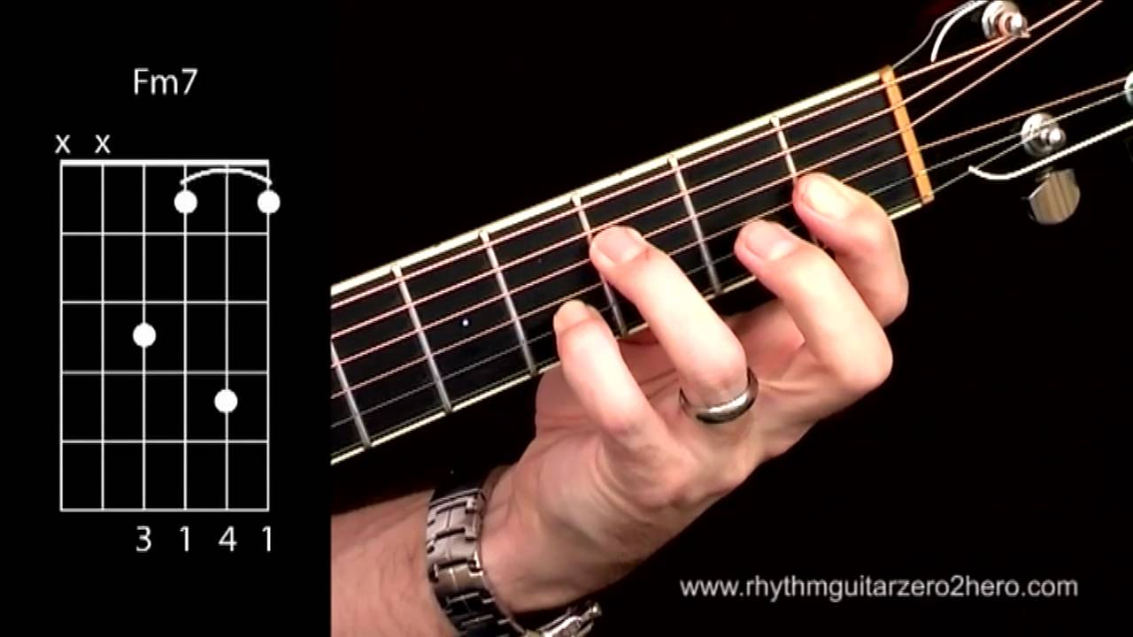 Acoustic guitar chords learn to play f minor 7 youtube hexwebz Gallery