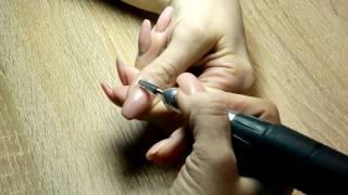 Коррекция акриловых ногтей самой себе быстро