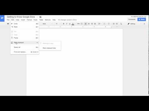 Getting To Know Google Docs - Edit Tab