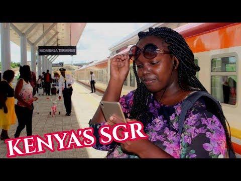 """MY KENYA&39;S SGR EXPERIENCE SGR肯尼亞火車 react肯尼亚姑娘带你参观""""超级豪华""""的SGR(蒙内铁路),SGR是肯尼亚人的骄傲也是中国人的骄傲"""