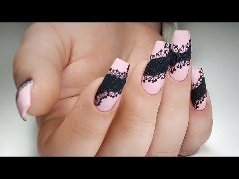 Дизайн на ногтях кружево