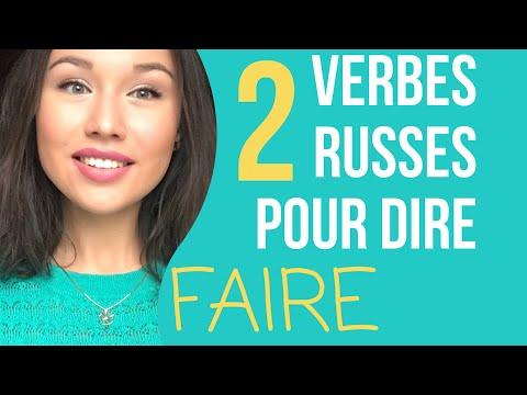 """2 verbes russes pour dire """"FAIRE"""" Apprendre le russe"""