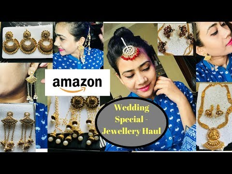 Wedding Jewellery Haul - AMAZON ✅ !! Reviews and Try - on😱