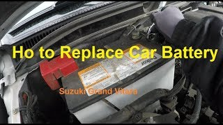 How to Replace Car Battery Suzuki Grand Vitara - on Parking Lot at Auto Store