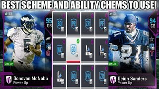 THE BEST CHEMS TO USE IN MADDEN 19! BEST SCHEME AND ABILITY CHEMS! | MADDEN 19 ULTIMATE TEAM
