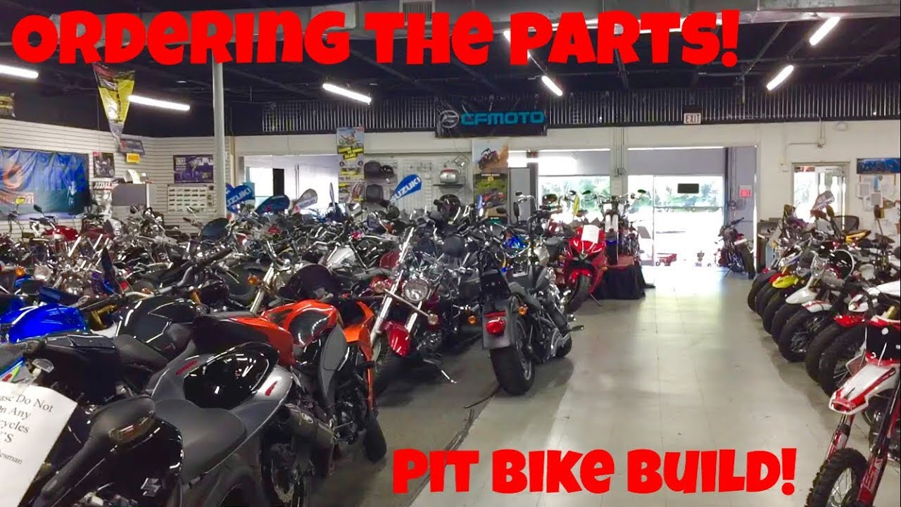 the pit bike is back! | bringing the parts to suzuki! - youtube