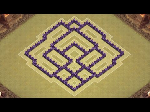 Clash of Clans Town Hall 7 Defense (CoC TH7) BEST War Base Layout Defense Strategy