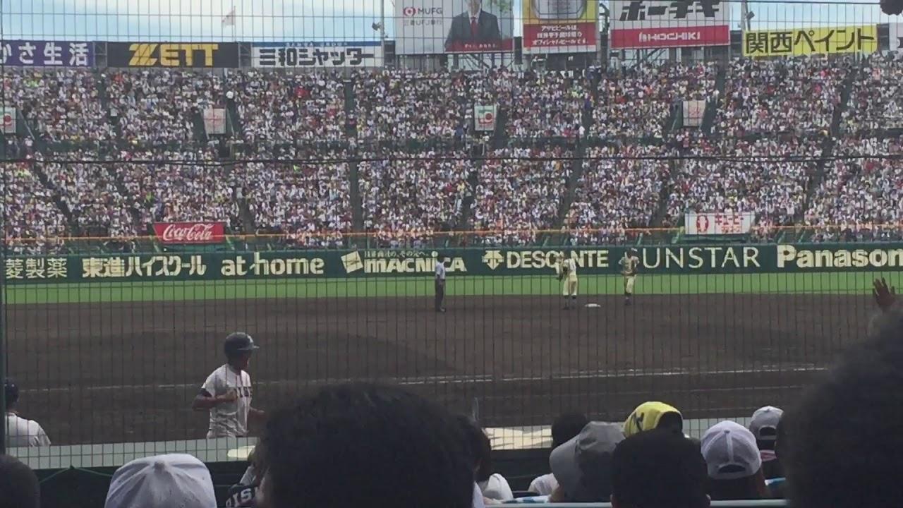 高校野球決勝  履正社が星稜 奥川から8回勝ち越しのタイムリーを打ってスタンドが湧いた動画!