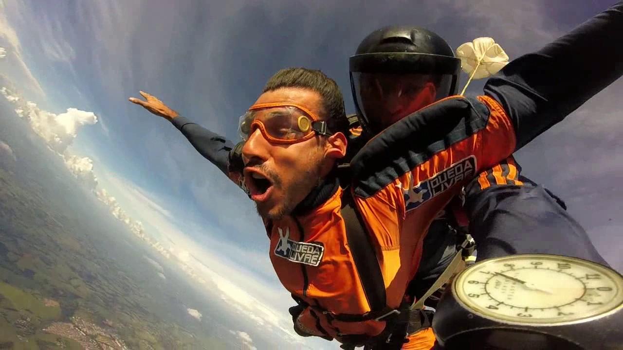 Salto de Paraquedas do Leandro na Queda Livre Paraquedismo 14 01 2017