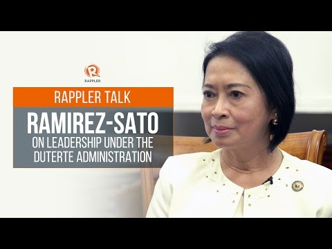 Rappler Talk: Ramirez-Sato on leadership under the Duterte administration