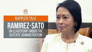 Rappler Talk: Ramirez-Sato on leadership under the Duterte administration