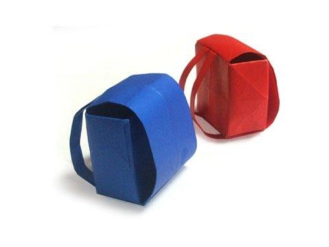Cách gấp, xếp cái cặp sách bằng giấy origami - Video hướng dẫn