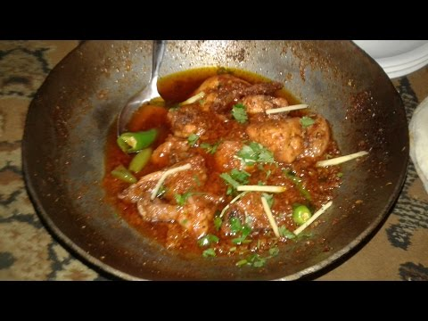 Chicken karahi street food of Karachi Pakistan.