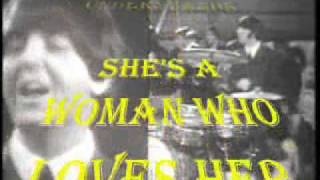 She's A Woman karaoke The beatles.wmv