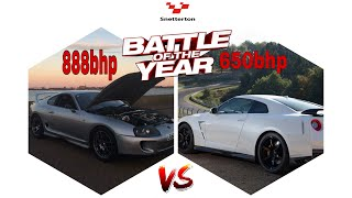 My Big power Supra vs 650bhp R35 GTR Track Edition