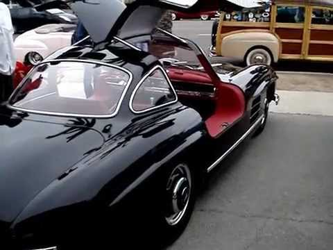 Mercedes 300 sl with gull wing doors youtube for Mercedes benz with wing doors