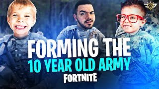 FORMING THE 10 YEAR OLD ARMY!!! - Random Duos! (Fortnite: Battle Royale)