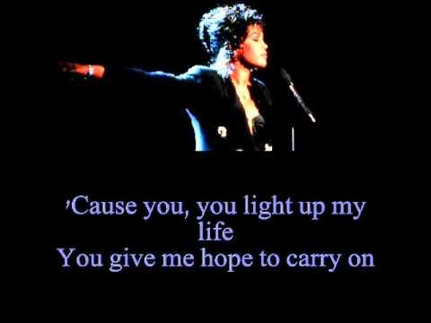 Whitney Houston - You Light Up My Life (Lyrics)