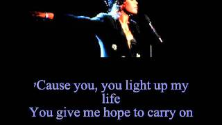 Whitney Houston - You Light Up My Life (Lyrics)