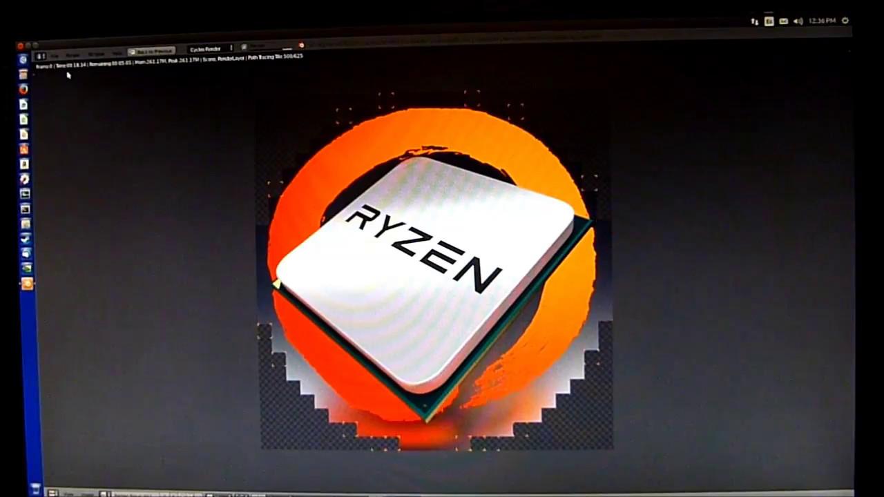 AMD Ryzen 7 1700 @3 85GHz Ubuntu Linux Blender Benchmark