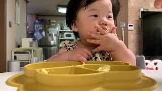 268일 - (8개월아기) 핑거푸드 이유식 먹기