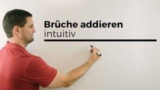 Brüche addieren, Intuitiv, Bruchrechnung | Mathe by Daniel Jung