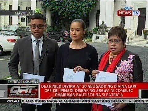 Dean Nilo Divina at 20 abugado ng Divina Law Office, ipinadi-disbar ni Patricia Bautista