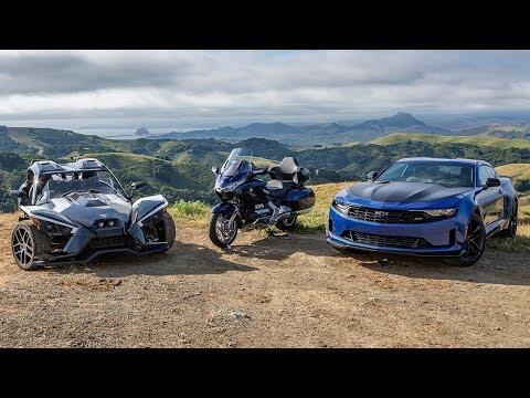 Chevrolet Camaro 1LE, Honda Gold Wing Tour, Polaris Slingshot Grand Touring Comparison Review