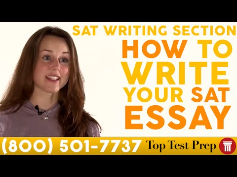 How to Write Your SAT Essay - SAT Writing Section - TopTestPrep.com