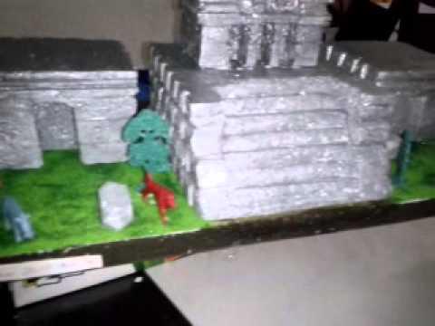Maqueta de pirámides de tulum Q.roo - YouTube