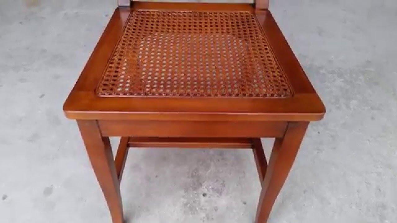 Sedia con seduta e schienale paglia di vienna youtube for Sedia design paglia di vienna