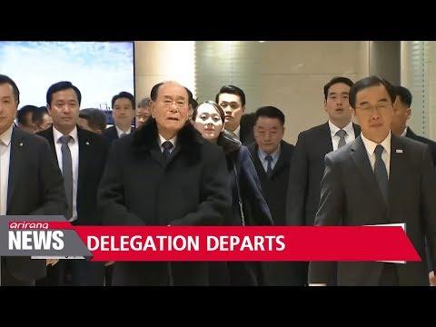 Cold snap returns, heHigh profile North Korean delegation returns home
