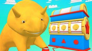Lerne mit Dino - Lerne Farben und laß Drachen fliegen - Dino dem Dinosaurier 👶 Lehrreiche Cartoon