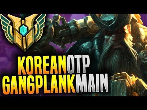 Korean Master Gangplank Main with New Runes! - Korean OTP Gangplank! | Korean Masters Be Challenger
