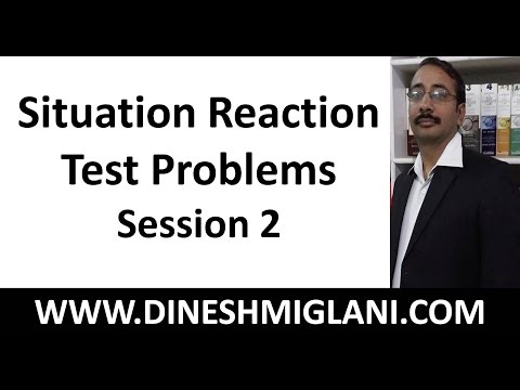 Best Tricks and Method for Situation Reaction Test Problems