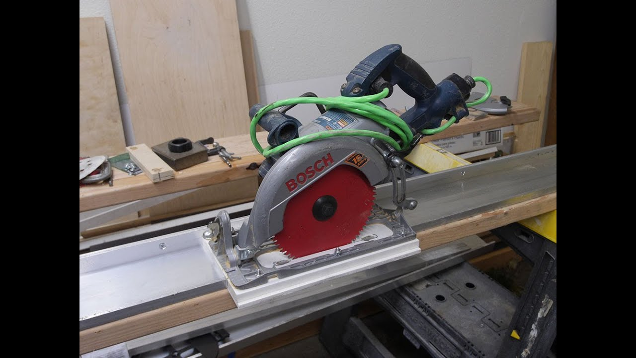 How To Make Aluminum Guide Rail For Your Circular Saw