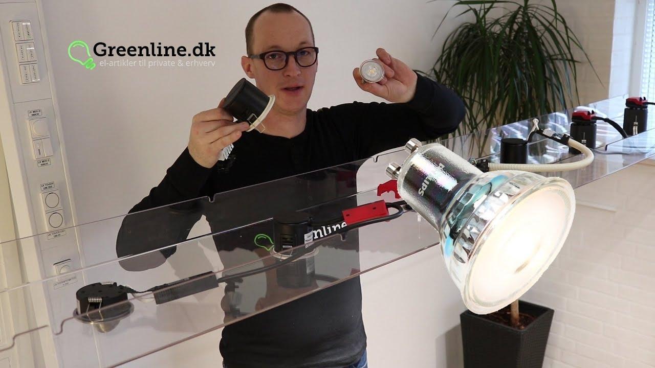 Fabelaktig LED spots - sådan monteres de. Direkte i isoleringen - YouTube CQ-86