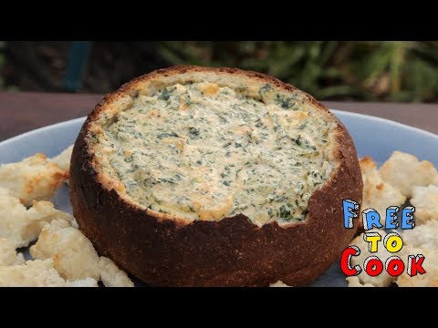 How To Cook A Cob Loaf Spinach Dip