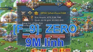 game lords mobile [F_9] zero 9m lính😱😱😱