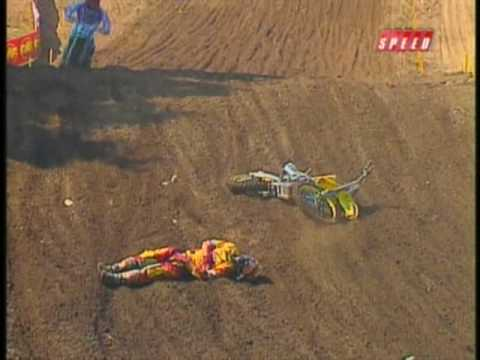 Mike Alessi Crash Hard 2008 AMA Motocross