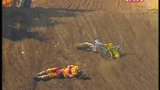 Mike Alessi Crash hard 2008 AMA Motocross
