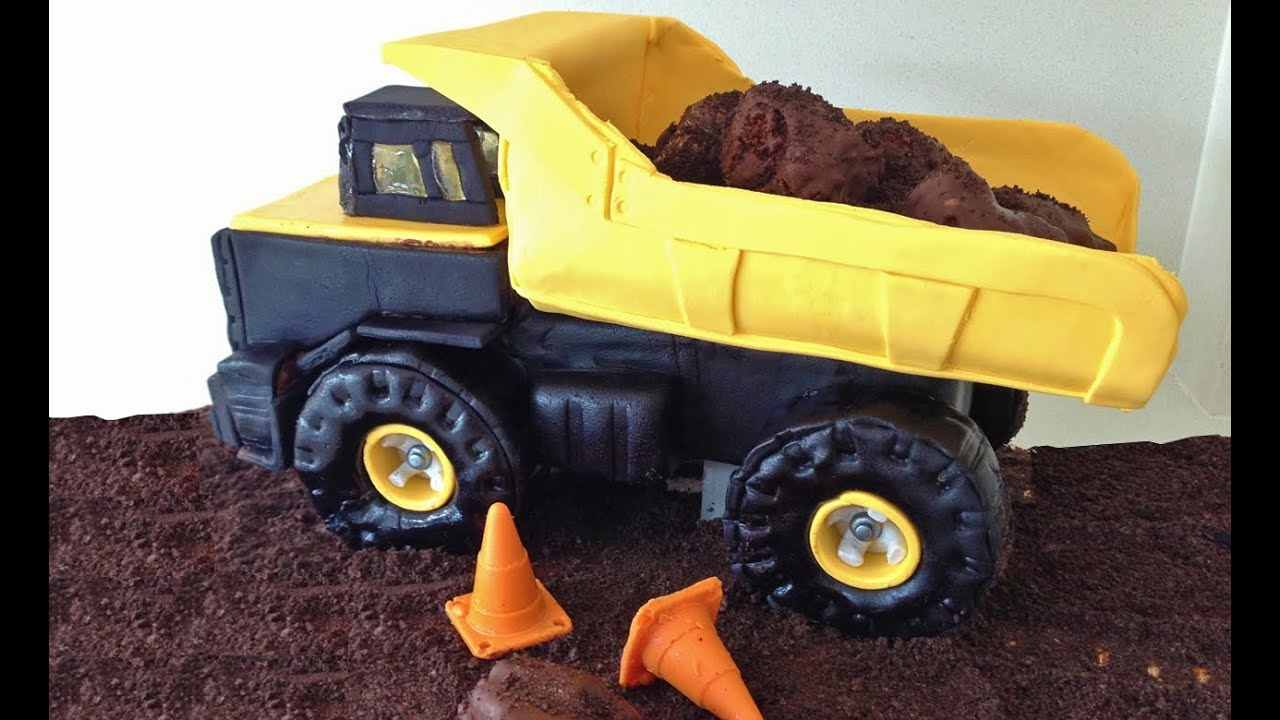 Dump Truck Cake Design : Truck Cake 3D Tutorial HOW TO Cook That - YouTube
