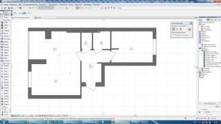 как сделать экспликацию помещений в архикаде с помощью зоны