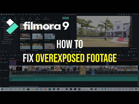 How to Quickly Fix Overexposed Footage in Filmora9
