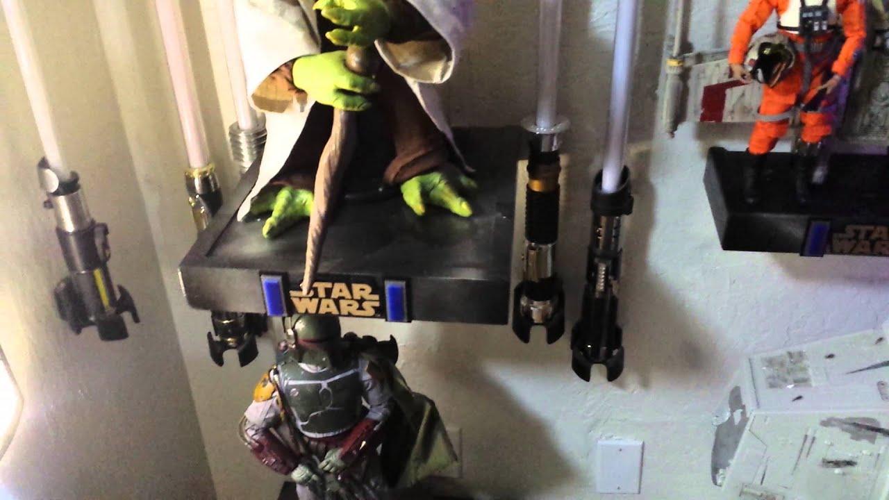 Star Wars Lightsaber Wall Mount Youtube