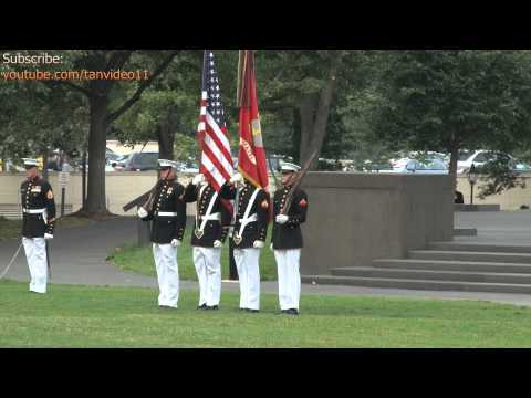 Flag Guard Standing During Ceremony 2, Washington DC - youtube.com/tanvideo11