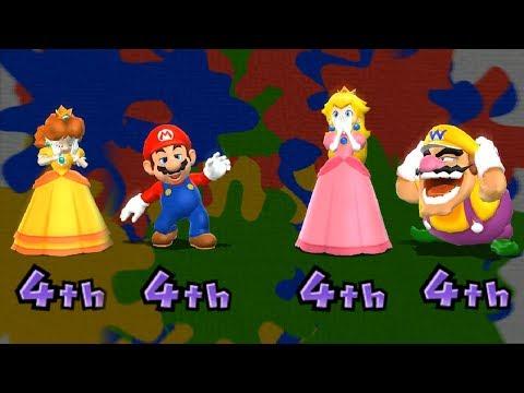 Mario Party 9 Garden Battle - Daisy vs Mario vs Peach vs Wario| Cartoons Mee
