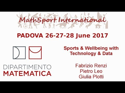 MathSport International 2017: Sports & Wellbeing with Technology & Data